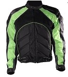 Black and Green Armor Motocross Motorcycle Racing Jacket