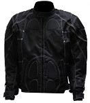 Mens Reflective Piping Armored Motorcycle Jacket