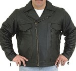 Men's Premium Vented Leather Motorcycle Riding Jacket