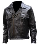 Mens Leather Motorcycle Jackets with Air Vents