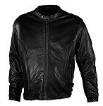 Mens Leather Motorcycle Jacket With Gun Pockets