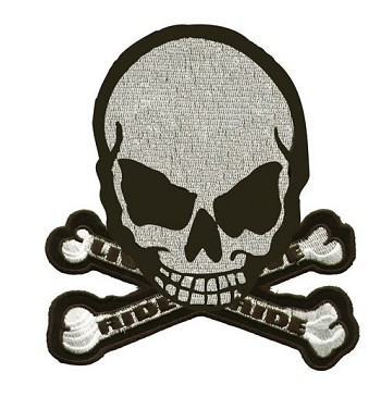Live To Ride, Ride To Live Monster Skull Patch