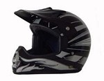 DOT Black Graphic Dirt Bike MX Motorcycle Helmet