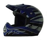 DOT Blue Graphic Dirt Bike MX Motorcycle Helmet