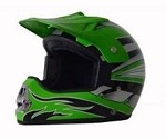 DOT Green Graphic Dirt Bike MX Motorcycle Helmet