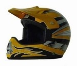 DOT Yellow Graphic Dirt Bike MX Motorcycle Helmet