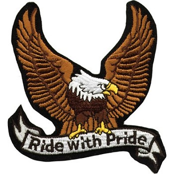 Eagle Ride with Pride Motorcycle Jacket Patch