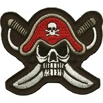 Captains Skull and Cross Knives Motorcycle Jacket Patch