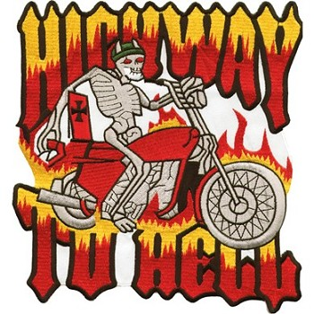 Highway to Hell Motorcycle Jacket Patch