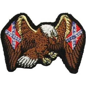 Eagle with Rebel Flag Motorcycle Jacket Patch