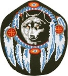 Dreamweaver Wolf Head Motorcycle Jacket Patch