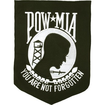 POW/MIA Motorcycle Jacket or Vest Patch