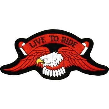 Eagle Live to Ride Motorcycle Jacket or Vest Patch