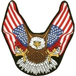 Eagle American Flag Wings Motorcycle Jacket Patch