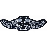 Iron Cross Wings Motorcycle Jacket Patch