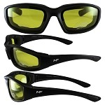 Universal Fit Motorcycle Sunglasses Yellow Lenses
