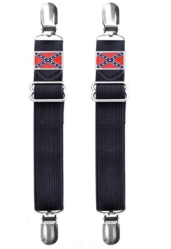 Rebel Flag Motorcycle Boot Pants Clips
