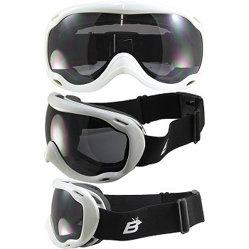 Fit Over Biker Goggles White Frame Smoke Lens