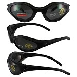 Motorcycle Sunglasses Smoke Lenses Raven