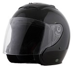 DOT Black Open Face Motorcycle Helmet with Flip Shield