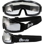 Low Profile Motorcycle Goggles Clear Lens
