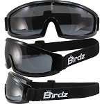 Low Profile Motorcycle Goggles Smoke Lenses