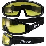 Low Profile Motorcycle Goggles Yellow Lens