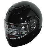 DOT Vented Gloss Black Full Face Motorcycle Helmet