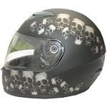 DOT Skull Pile Full Face Motorcycle Helmet