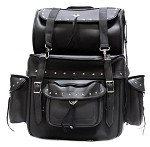Large Studded Motorcycle Sissy Bar Bag With Carry Bag