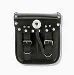 PVC Motorcycle Sissy Bar Bag With Studs and Conchos