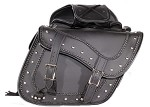 Motorcycle Saddlebags With Studs and Braid