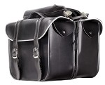 Motorcycle Saddlebags With Light Reflective Trim