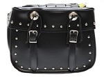 Universal Studded Motorcycle Saddlebags With Conchos