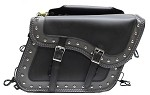 Studded Motorcycle Saddlebags With Braid