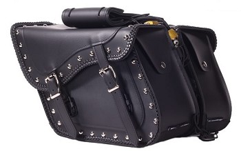 Motorcycle Saddlebags With Studs and Quick Release