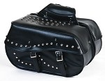 Large PVC Motorcycle Saddlebags With Studs