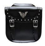 Studded Motorcycle Saddlebags With Eagle Emblem