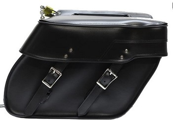 Plain PVC Zip-Off Motorcycle Saddlebags
