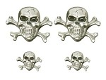 Skull and Crossbones Lapel Pins and Emblems