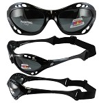 Motorcycle Sunglasses Smoke Lenses with Strap