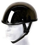 Black Chrome Shiny Novelty Motorcycle Helmet