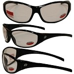 Motorcycle Sunglasses Clear with 1.0 Bifocals