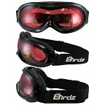 Snow Goggles Rose Mirrored Lens Black Frame