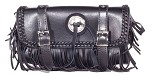 Motorcycle Tool Bag With Fringe, Braid, Concho