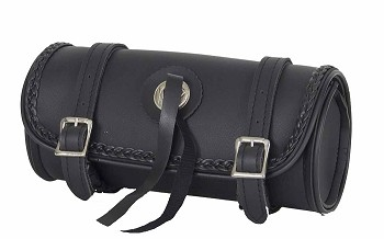 Motorcycle Tool Bag With Braid and Conchos
