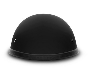 E-Z Rider Dull Black Novelty Motorcycle Helmet