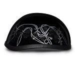 Barbed Wire and Skulls Novelty Motorcycle Helmet