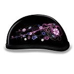 Women's Novelty Motorcycle Helmet with Flowers