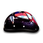 Novelty Motorcycle Helmet with US Flag & Eagle
